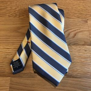 CHAPS blue and yellow striped tie